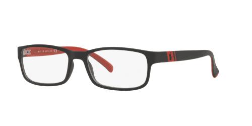 Polo Ralph Lauren PH 2154 5247 MATTE BLACK/RED