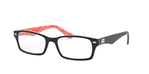 Ray-Ban Ray-Ban RX5206 2479 Top Black on Texture Red