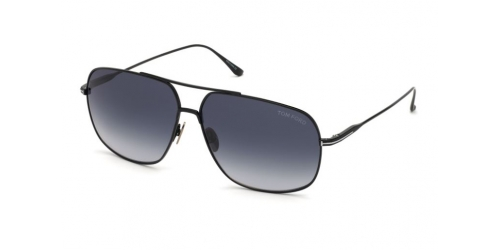 Tom Ford TF0746 01W Shiny Black/Gradient Blue
