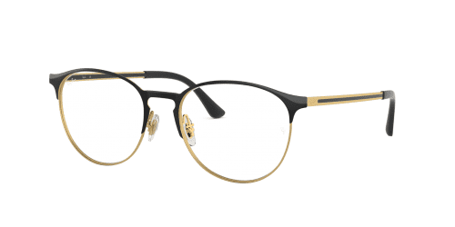 Ray-Ban Ray-Ban RX6375 2890 Gold Top In Black