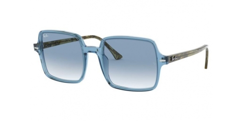 Ray-Ban SQUARE II RB1973 12833F Transparent Light Blue