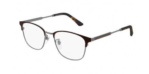 Gucci GUCCI LOGO GG0609OK GG 0609OK 003 Brown/Ruthenium