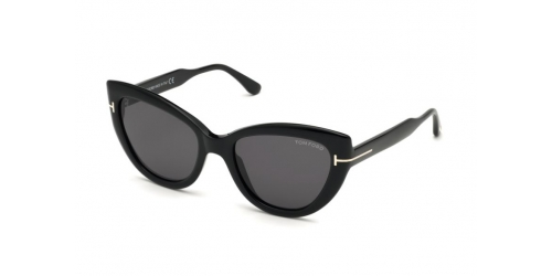 Tom Ford Tom Ford ANYA TF0762/S TF 0762/S 01A Shiny Black/Smoke