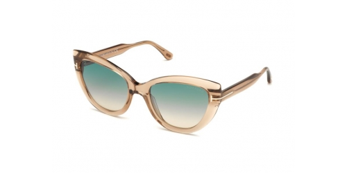Tom Ford Tom Ford ANYA TF0762/S TF 0762/S 45P Shiny Light Brown/Gradient Green