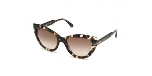 Tom Ford ANYA TF0762/S TF 0762/S 55F Coloured Havana/Gradient Brown