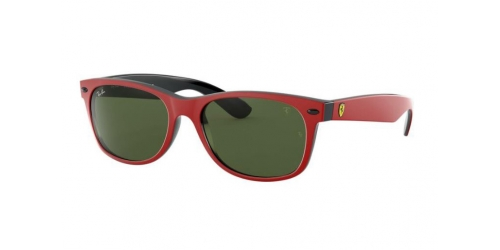 Ray-Ban Wayfarer FERRARI RB2132M RB 2132M F53931 Top Matte Red on Black