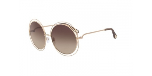 Chloe CARLINA CE114SD CE 114SD 784 Rose Gold/Transparent Brown
