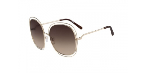 Chloe CARLINA CE126S CE 126S 784 Rose Gold/Transparent Brown