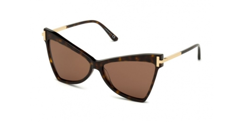 Tom Ford TALLULAH TF0767 52E Dark Havana