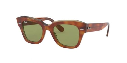 Ray-Ban Ray-Ban STATE STREET RB2186 12934E Havana on Transparent