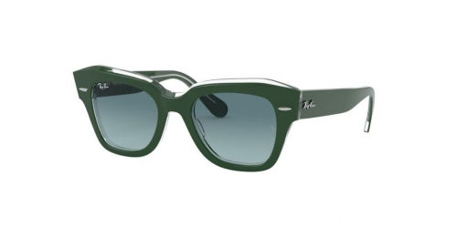 Ray-Ban STATE STREET RB2186 12953M Green on Transparent