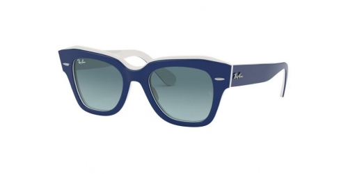 Ray-Ban STATE STREET RB2186 12993M Blue on White