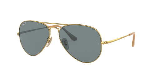 AVIATOR METAL II RB3689 AVIATOR METAL II RB 3689 9064S2 Gold Polarized