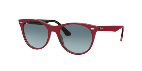 Ray-Ban WAYFARER II RB2185 12963M Red on Transparent Grey