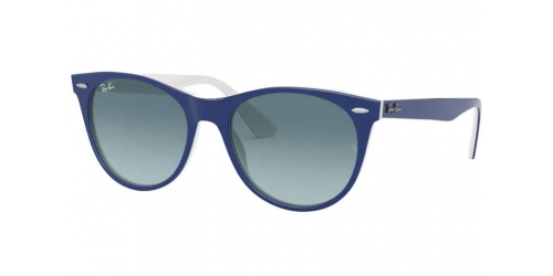 Ray-Ban WAYFARER II RB2185 12993M Blue on White