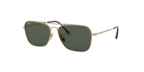 Ray-Ban JAPANESE TITANIUM RB8136M RB 8136M 9143 Gold Polarized