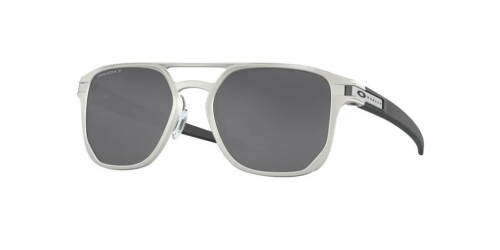 Oakley LATCH ALPHA OO4128 412801 Matte Silver Polarized