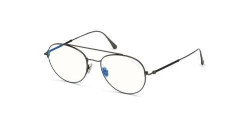 Tom Ford TF5657-B Blue Control TF 5657-B 012 Shiny Dark Ruthenium