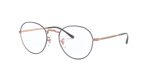 Ray-Ban RX3582V RX 3582V 3035 Top Blue on Copper