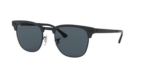 Ray-Ban Ray-Ban CLUBMASTER METAL RB3716 186/R5 Shiny Black Top Matte