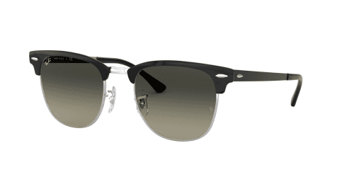 Ray-Ban CLUBMASTER METAL RB3716 900471 Silver Top Black