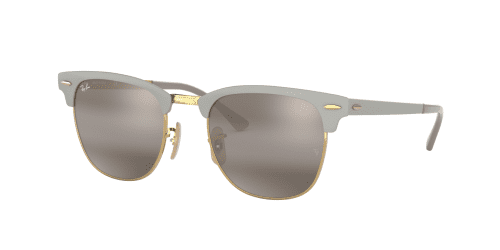 CLUBMASTER METAL RB3716 CLUBMASTER METAL RB 3716 9158AH Gold On Matte Grey