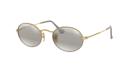 Ray-Ban Ray-Ban Oval RB3547 9154AH Gold on Top Matte Grey