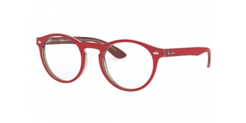 Ray-Ban RX5283 5987 Red on Transparent