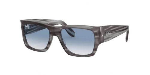 Ray-Ban WAYFARER NOMAD RB2187 13143F Striped Grey