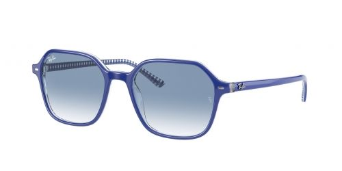 Ray-Ban Ray-Ban JOHN RB2194 13193F Blue on White and Blue