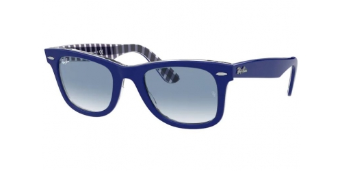 Wayfarer RB2140 Wayfarer RB 2140 13193F Blue on Blue and White