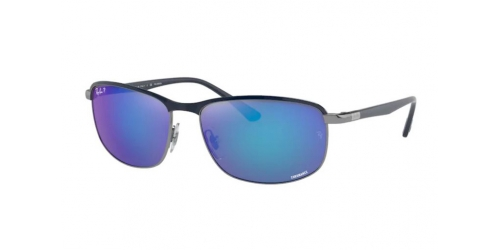 Ray-Ban Ray-Ban RB3671CH RB 3671CH 92044L Blue on Gunmetal Polarized
