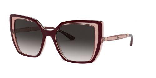 Dolce & Gabbana Dolce & Gabbana DG6138 32478G Bordeaux On Transparent Pink
