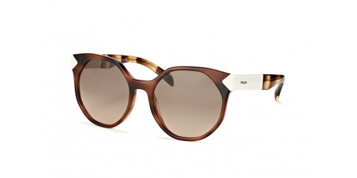 Prada PR 11TS USG-3D0 striped dark brown