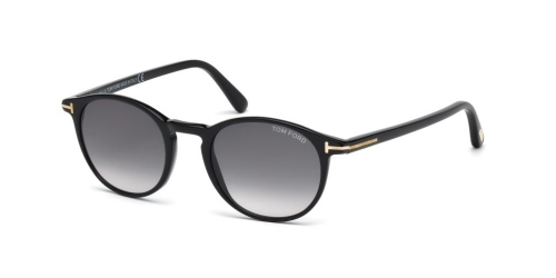 Tom Ford TF ANDREA-02 0539/S 01B Shiny Black/Gradient Smoke