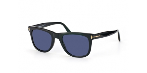 Tom Ford Leo FT0336/S FT 0336/S 01V Shiny Black/Blue