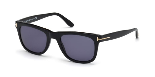 Tom Ford Leo TF0336/S TF 0336/S 01V Shiny Black/Blue