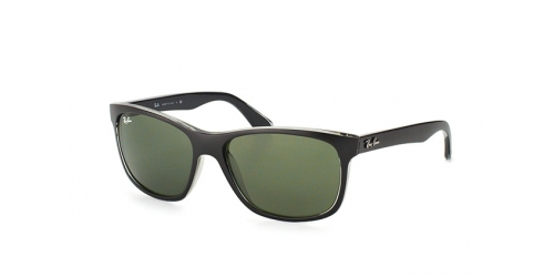 Ray-Ban RB 4181 6130 matt black on trans