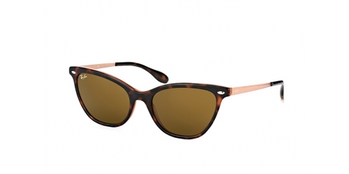 Ray-Ban RX4360 123373 Top Havana on light Brown