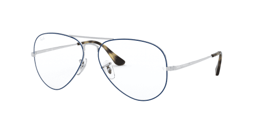 Ray-Ban Ray-Ban RX6489 2970 Silver on Top Blue