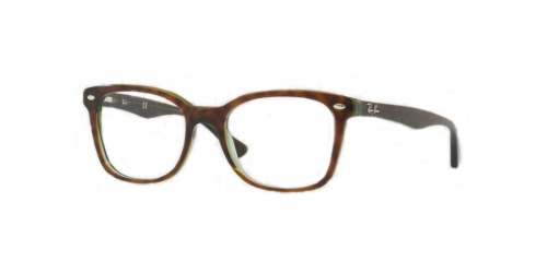 Ray-Ban RX5285 2383 Top Havana on Green Transparent