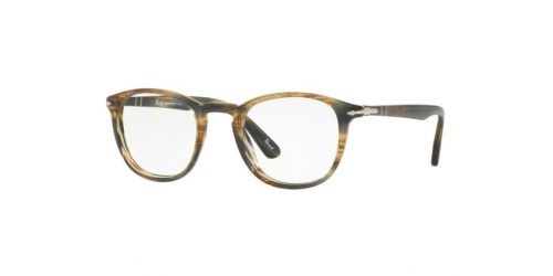 9ee6e7327d8 Persol PO3143V PO 3143V 1049 Striped Brown Grey