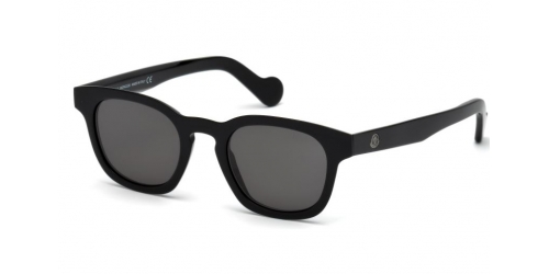 Moncler ML0072 01/A Shiny Black Smoke