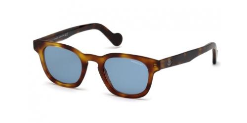 Moncler Moncler ML0072 52V Dark Havana/Blue