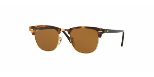 Ray-Ban Clubmaster RB3016 1160 Spotted Brown Havana