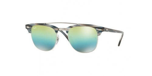 Ray-Ban RB3816 Clubmaster Doublebridge 1239I2 Silver