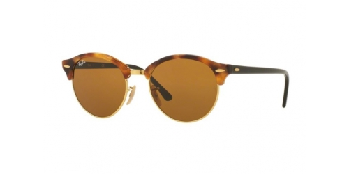 Ray-Ban RB4246 Clubround 1160 Spotted Brown Havana