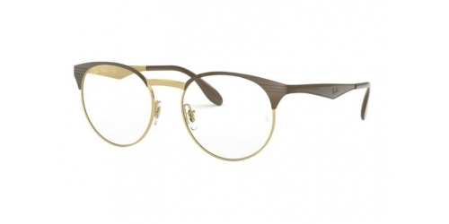 Ray-Ban RX6406 2905 Gold/Shiny Brown