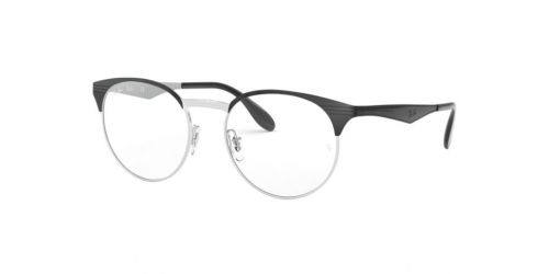 Ray-Ban RX6406 2861 Silver Top on Black