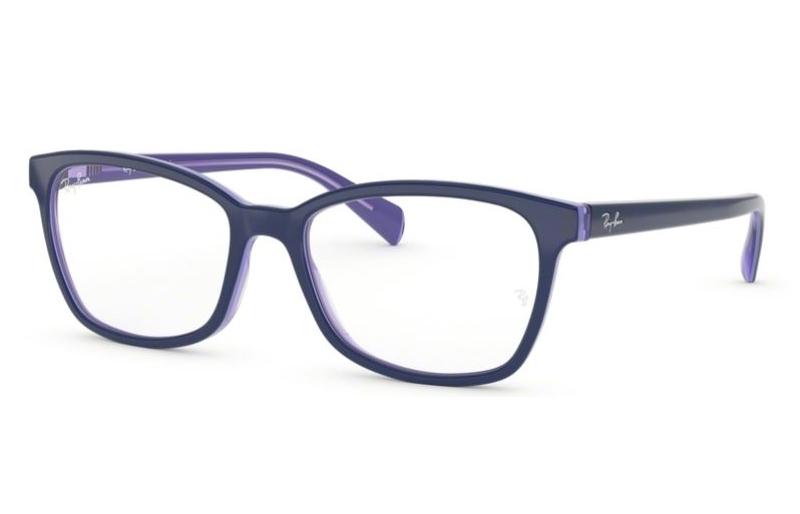 738569327d Ray-Ban RX5362 RX 5362 5776 Top Blue Transparent Violet